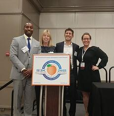 CAEL's Sarah Miller (far right) with economic development leaders