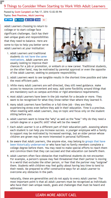 nine things to consider when starting to work with adult learners