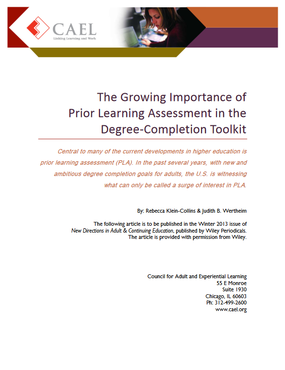 Growing-Importance-of-Prior-Learning-Assessment-in-the-Degree-Completion-Toolkit_Cover-Image_CAEL